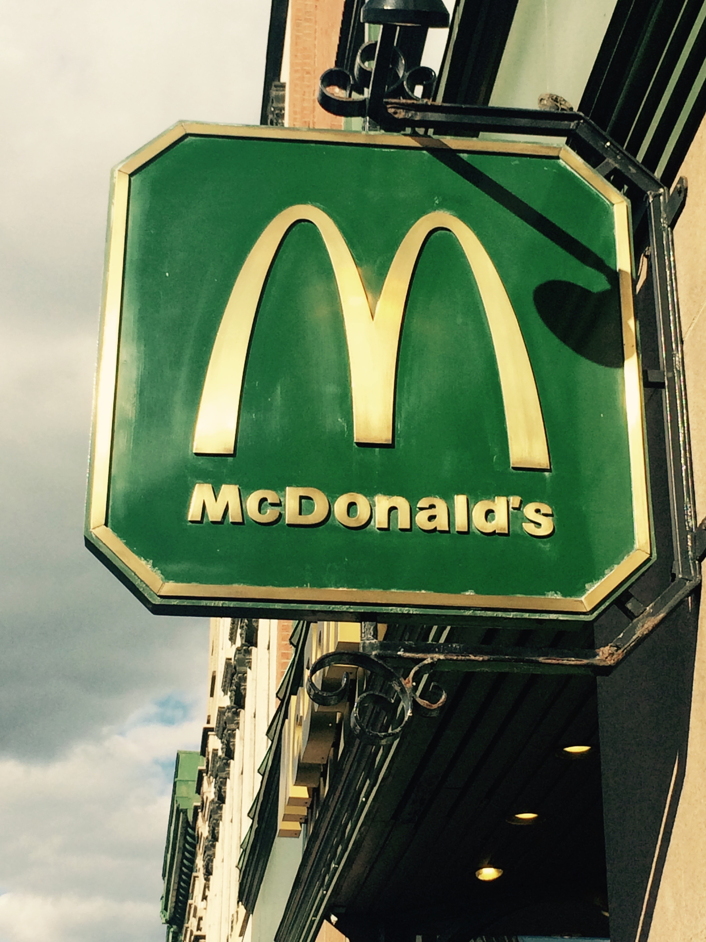 Green and Golden arches in Montreal