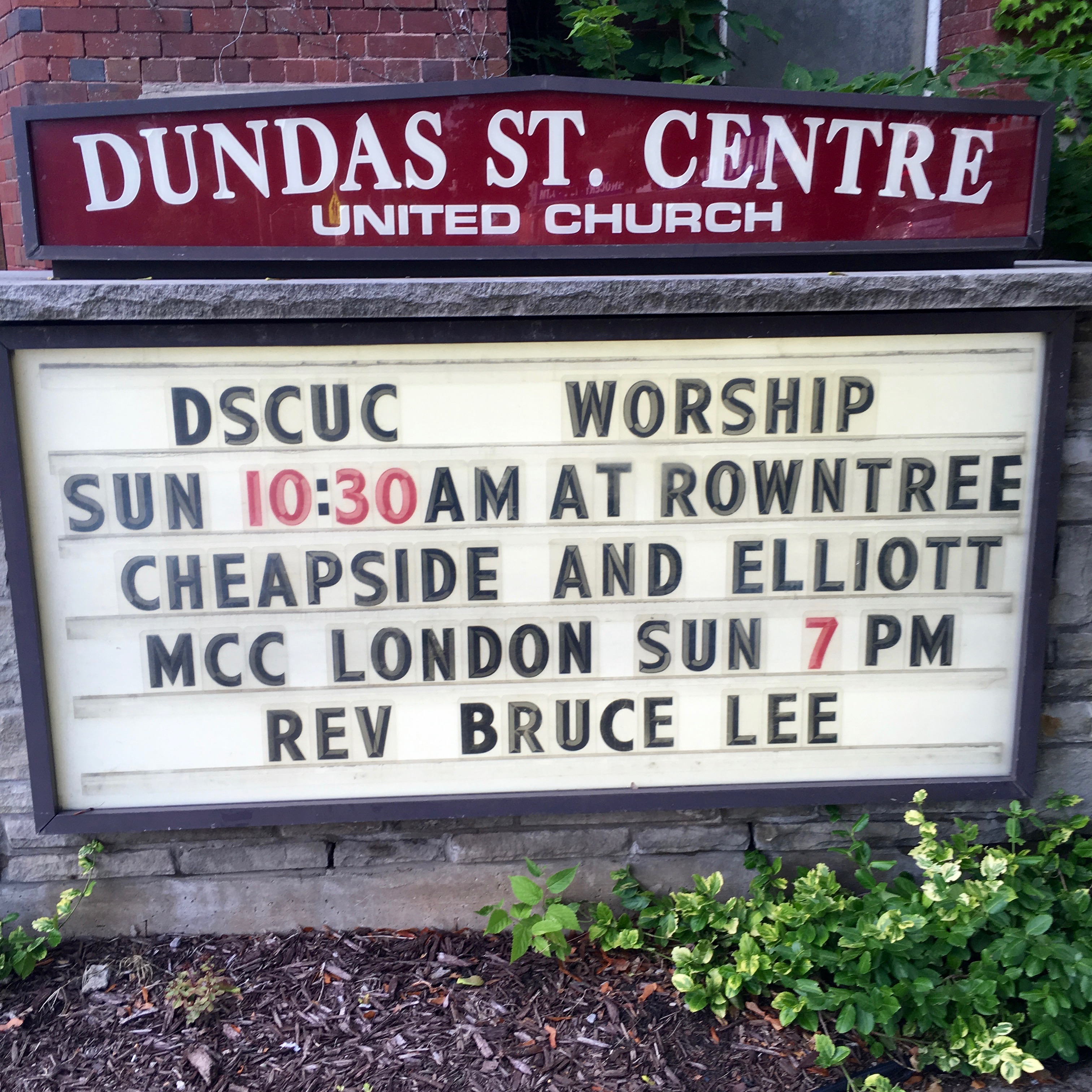Rev Bruce Lee Church